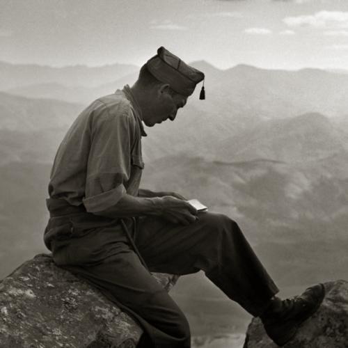 Soldat espagnol au Val d'Aran, 1939. Crédit photo : Germaine Chaumel - Fonds Martinez Chaumel